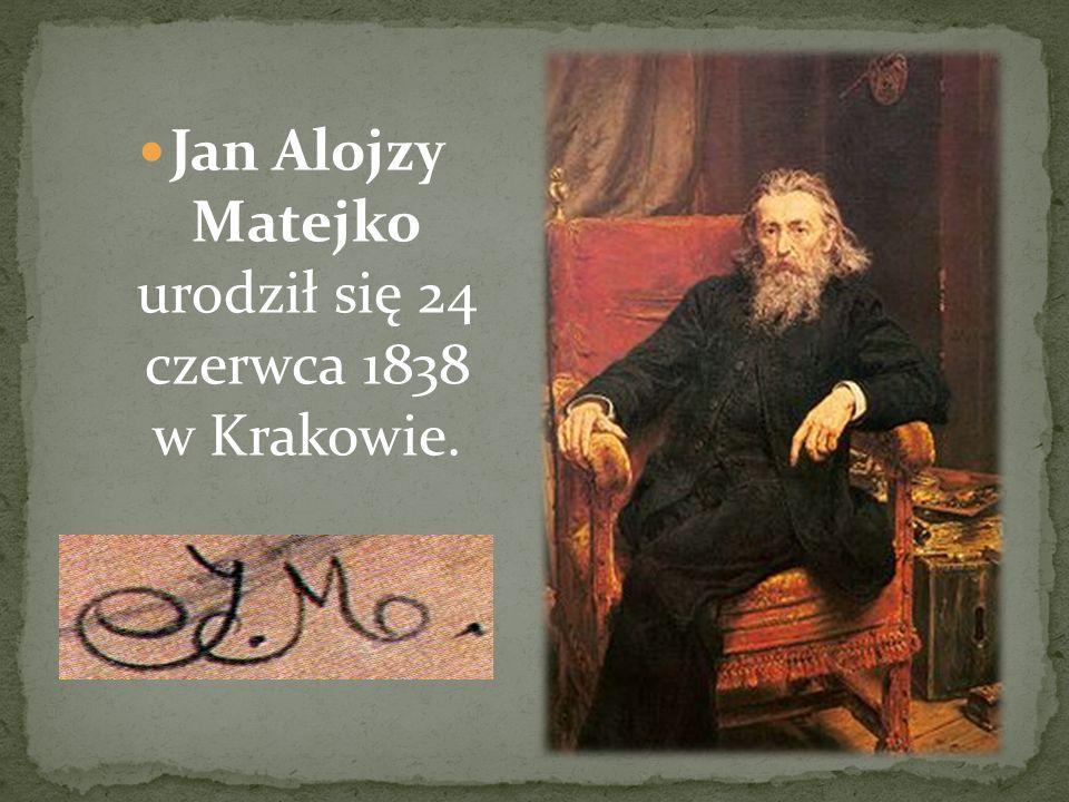 Jan Alojzy Matejko urodził się 24 czerwca 1838 w Krakowie.