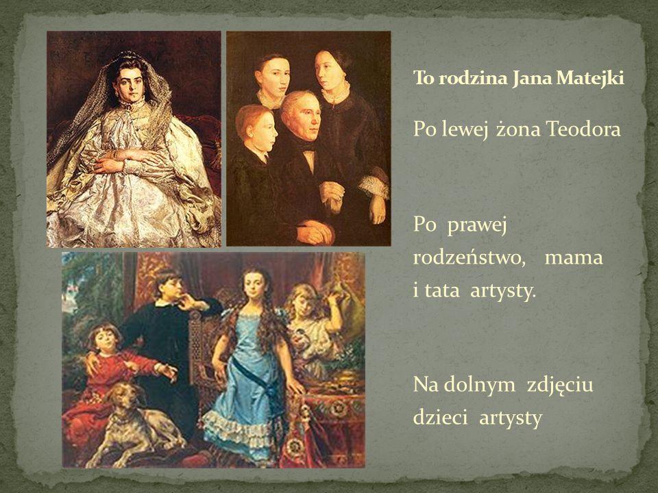 Po lewej żona Teodora Po prawej rodzeństwo, mama i tata artysty. Na dolnym zdjęciu dzieci artysty