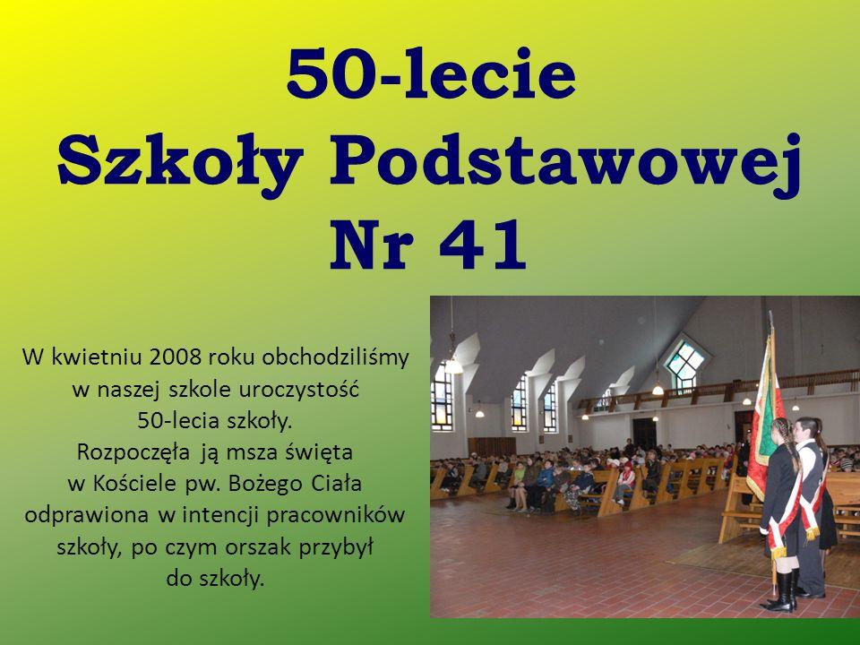 W kwietniu 2008 roku obchodziliśmy w naszej szkole uroczystość 50-lecia szkoły. Rozpoczęła ją msza święta w Kościele pw. Bożego Ciała odprawiona w int