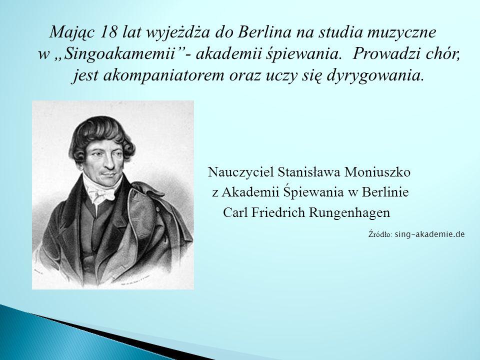 Mając 18 lat wyjeżdża do Berlina na studia muzyczne w Singoakamemii- akademii śpiewania.