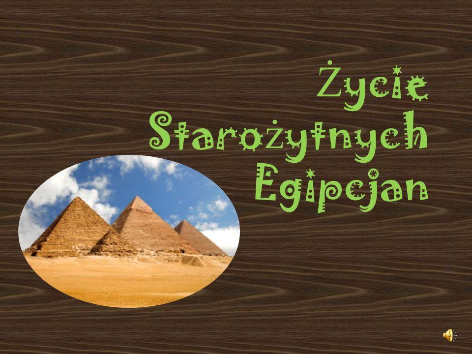 DOMY Domy w starożytnym Egipcie budowano z cegieł ręcznie lepionych z gliny i suszonych na słońcu.