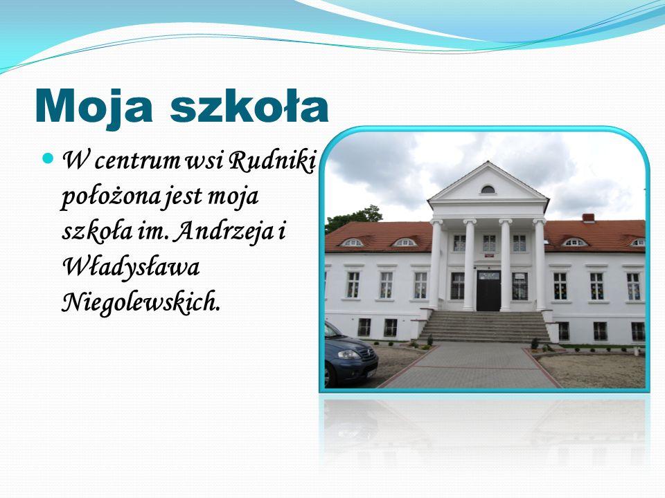 Moja szkoła W centrum wsi Rudniki położona jest moja szkoła im. Andrzeja i Władysława Niegolewskich.