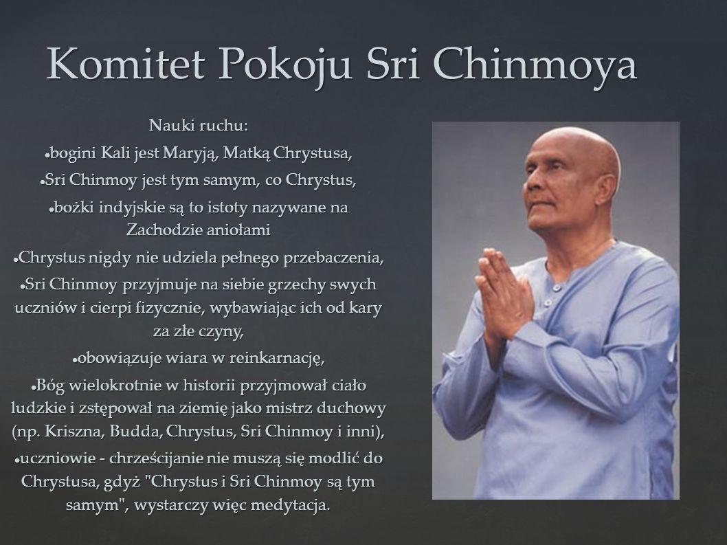 Komitet Pokoju Sri Chinmoya Nauki ruchu: bogini Kali jest Maryją, Matką Chrystusa, bogini Kali jest Maryją, Matką Chrystusa, Sri Chinmoy jest tym samy