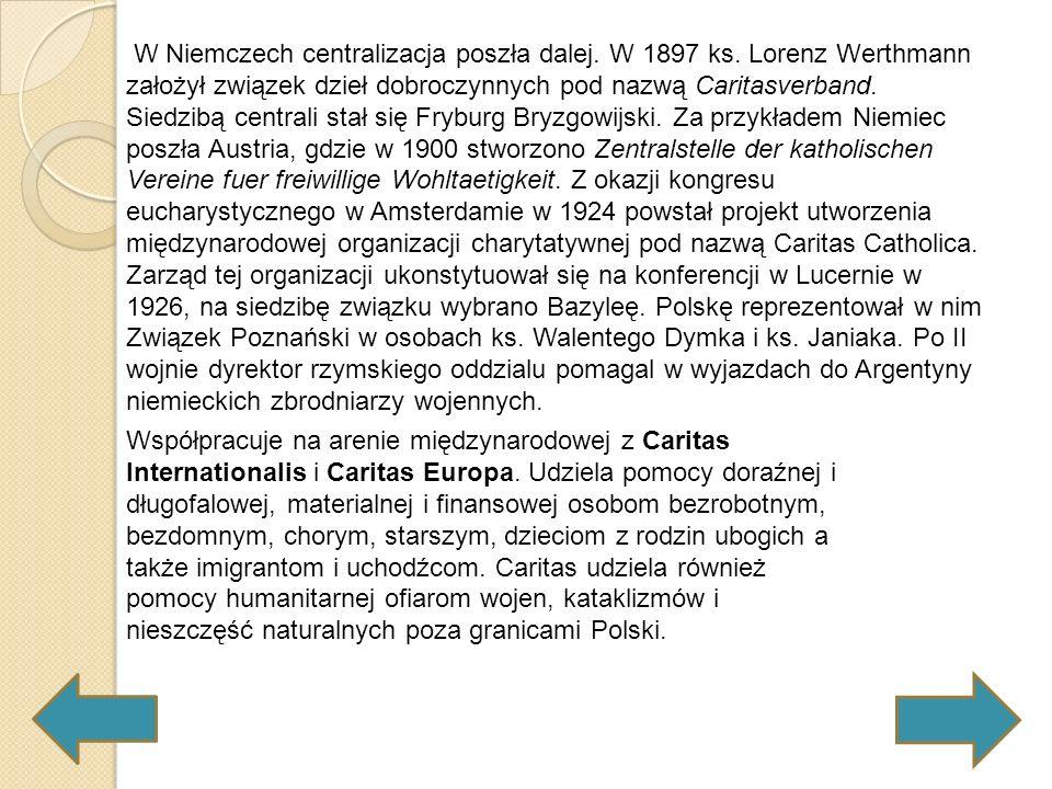 Początki działalności Caritas w Polsce to głównie dystrybucja darów materialnych otrzymywanych z zagranicy.
