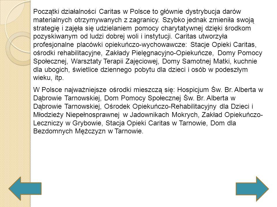 Na ziemiach polskich związki towarzystw dobroczynnych powstały również na przełomie stuleci: w 1895 we Lwowie powstał Związek Katolickich Towarzystw i Zakładów Dobroczynnych, który koordynował pracę stowarzyszeń św.