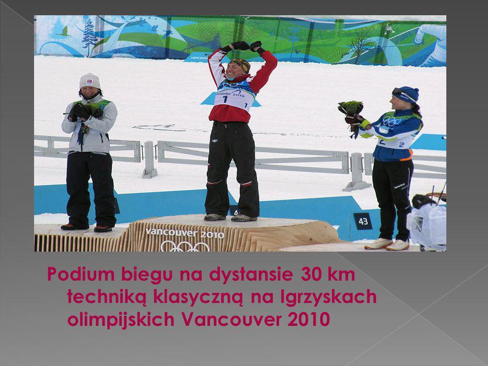 Podium biegu na dystansie 30 km techniką klasyczną na Igrzyskach olimpijskich Vancouver 2010