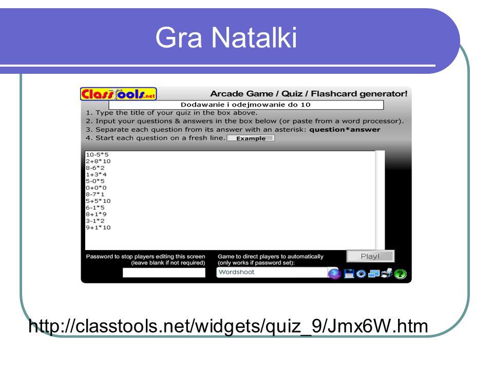 Gra Natalki http://classtools.net/widgets/quiz_9/Jmx6W.htm