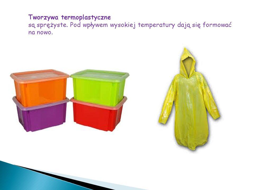 Właściwości i zastosowanie tworzyw sztucznych Tworzywa sztuczne wykazują odporność na działanie czynników atmosferycznych, a część z nich także na oddziaływanie substancji chemicznych.