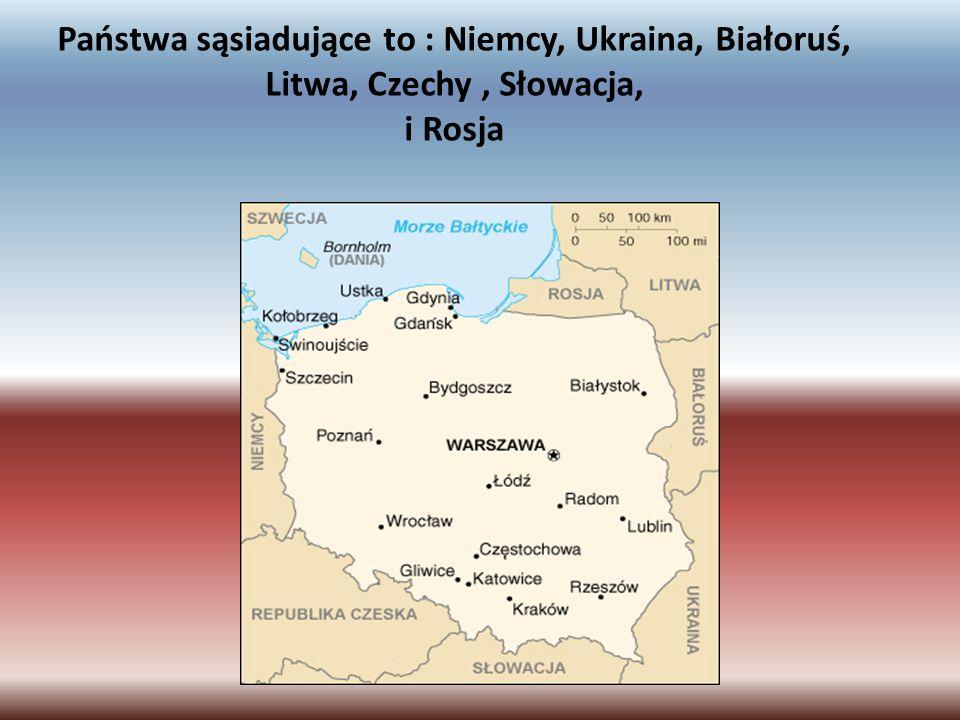 Państwa sąsiadujące to : Niemcy, Ukraina, Białoruś, Litwa, Czechy, Słowacja, i Rosja