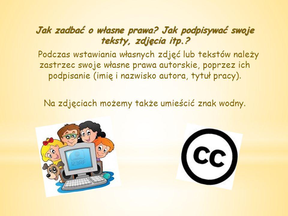 Jak czytać i respektować informacje o prawach autorskich.