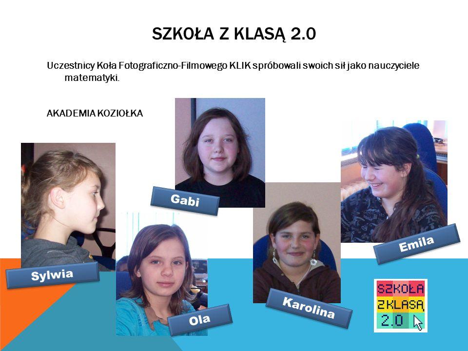 Uczestnicy Koła Fotograficzno-Filmowego KLIK spróbowali swoich sił jako nauczyciele matematyki.