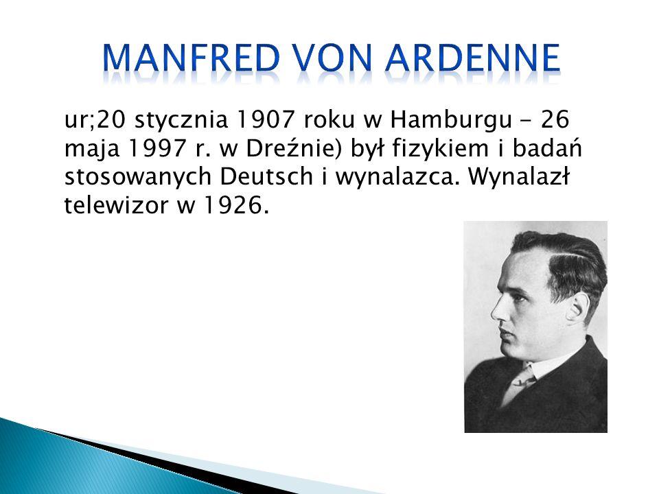 ur;20 stycznia 1907 roku w Hamburgu - 26 maja 1997 r.