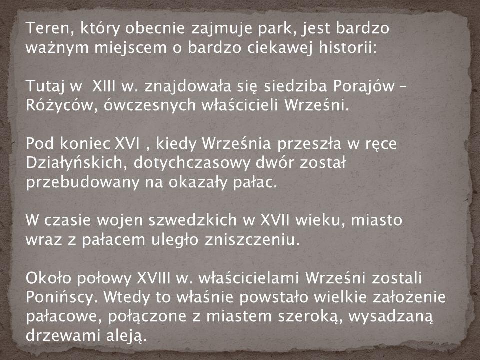 Teren, który obecnie zajmuje park, jest bardzo ważnym miejscem o bardzo ciekawej historii: Tutaj w XIII w.