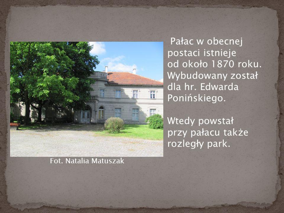 Pałac w obecnej postaci istnieje od około 1870 roku.