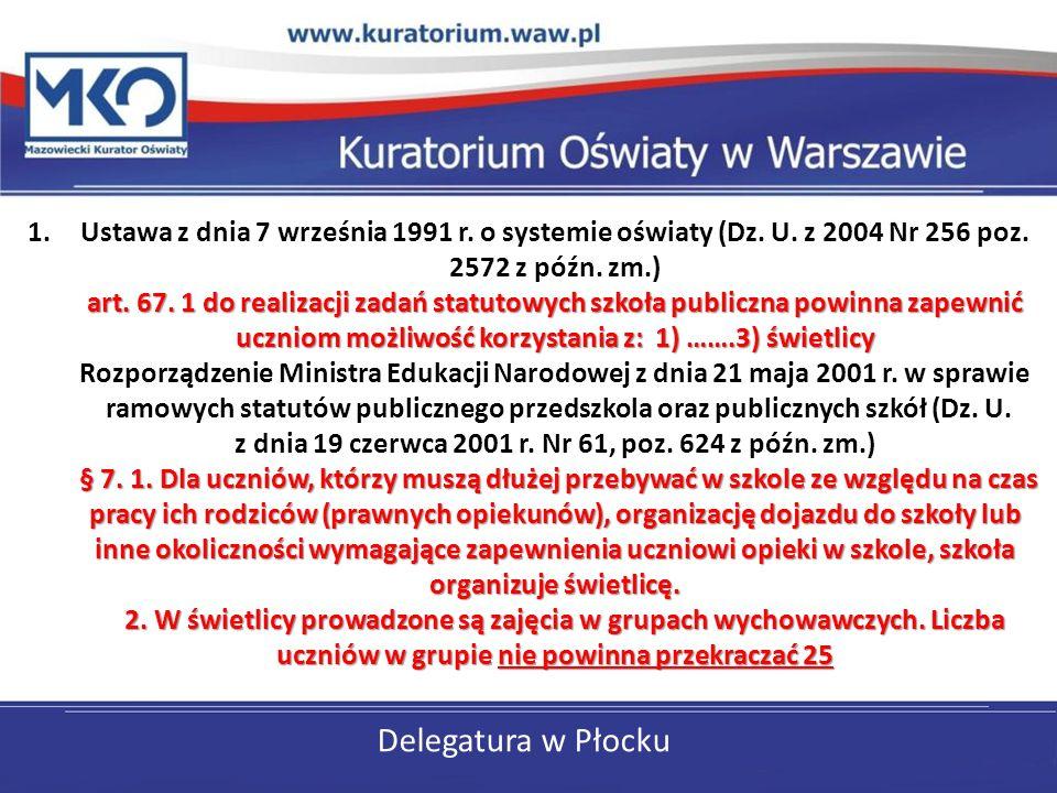 Delegatura w Płocku art. 67.