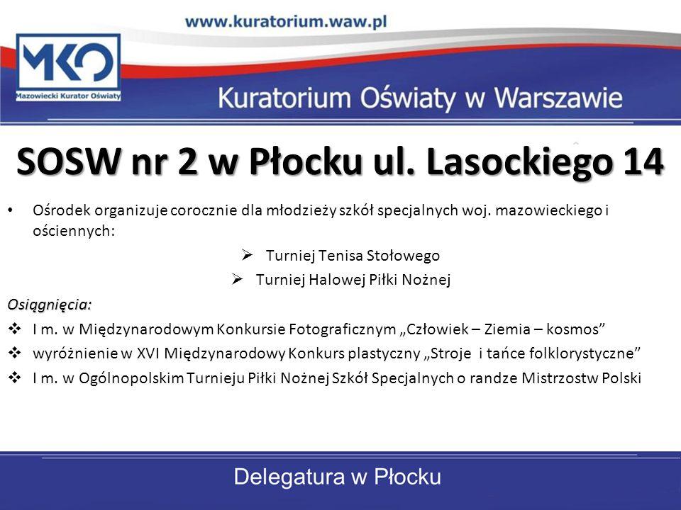 ZSOS nr 7 w Płocku ul.Kossobudzkiego 24 Od 1996 r.
