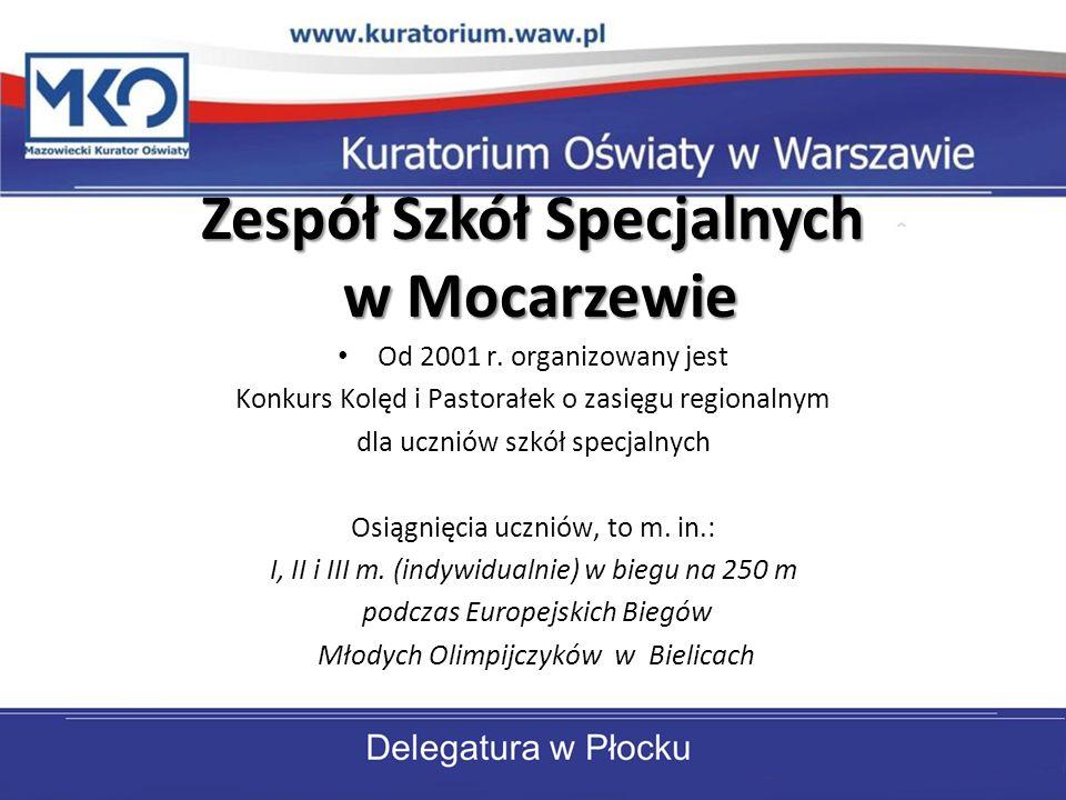Zespół Szkół Specjalnych w Mocarzewie Od 2001 r. organizowany jest Konkurs Kolęd i Pastorałek o zasięgu regionalnym dla uczniów szkół specjalnych Osią