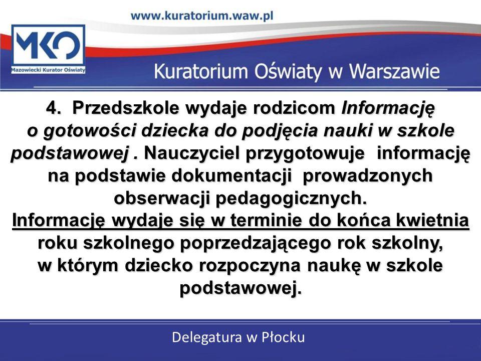 Delegatura w Płocku Obowiązuje druk z rozporządzenia MEN z dnia 28 maja 2010 r.