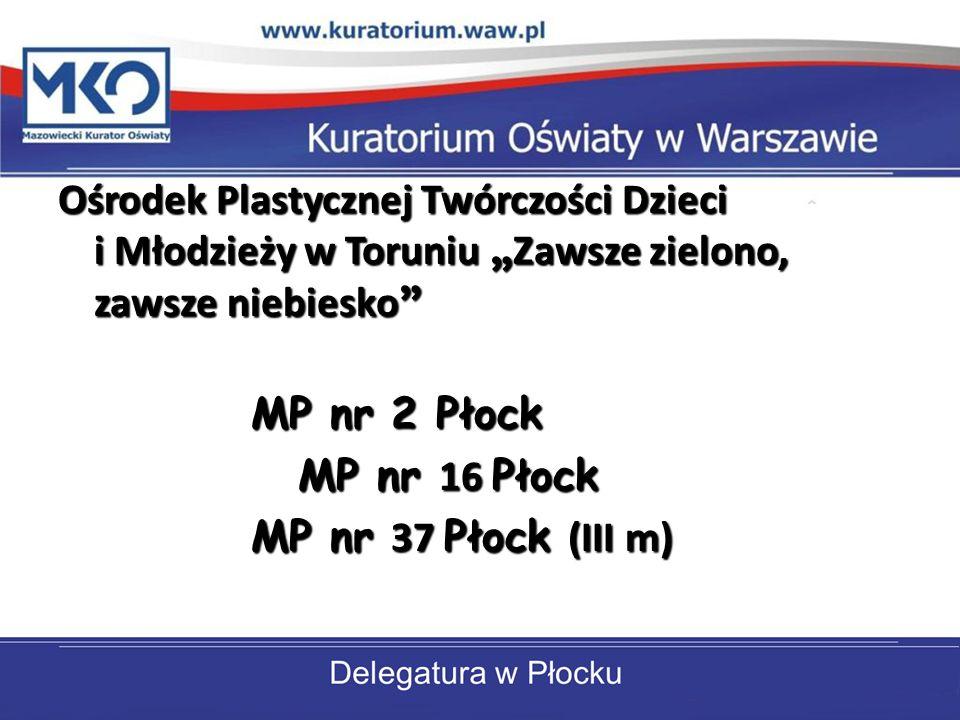 Ośrodek Plastycznej Twórczości Dzieci i Młodzieży w Toruniu Zawsze zielono, zawsze niebiesko Ośrodek Plastycznej Twórczości Dzieci i Młodzieży w Torun