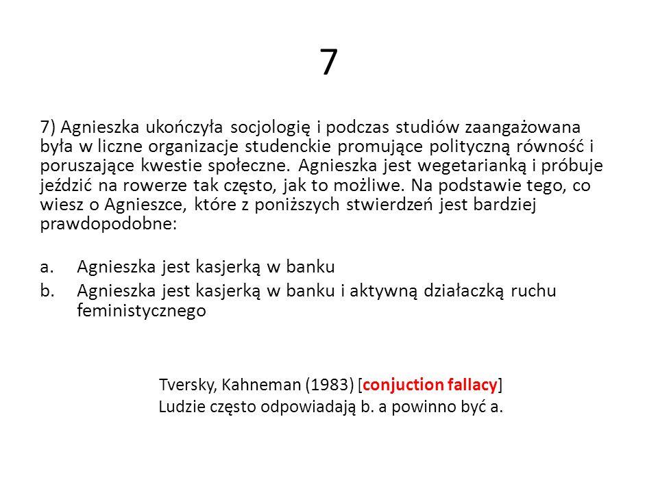 7 7) Agnieszka ukończyła socjologię i podczas studiów zaangażowana była w liczne organizacje studenckie promujące polityczną równość i poruszające kwe