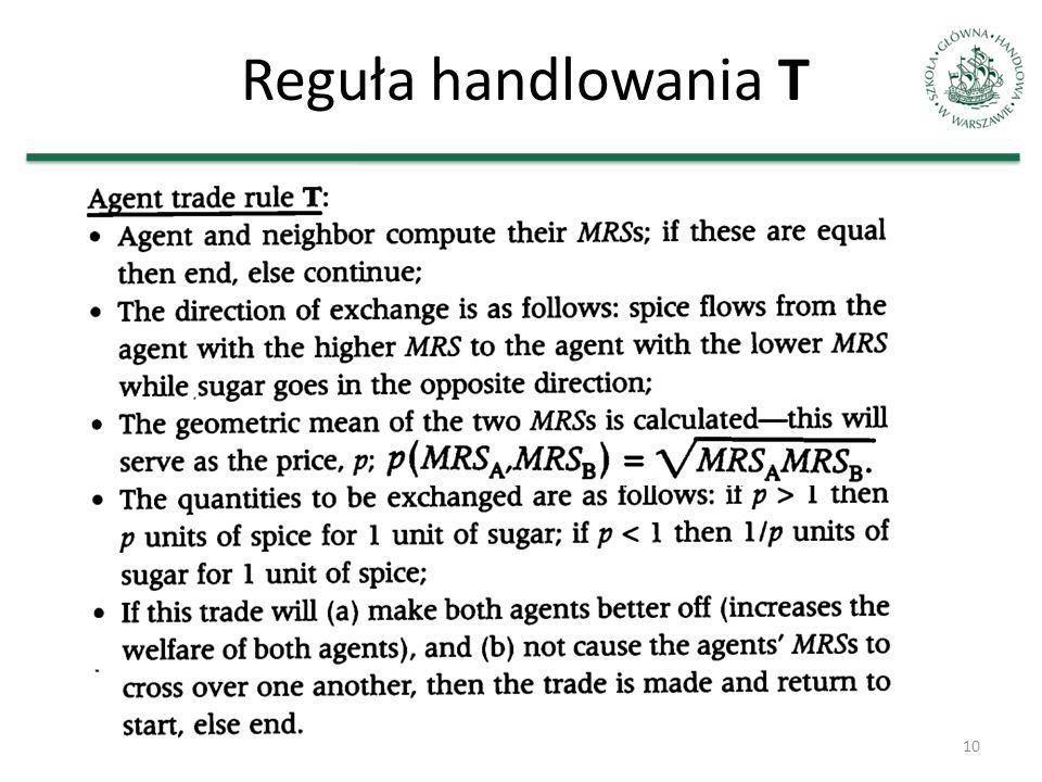 Reguła handlowania T 10