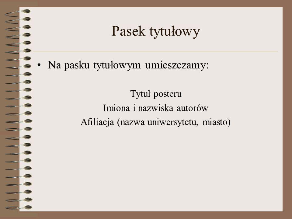 Rodzaj i wielkość czcionki Czcionka: san serif – np..