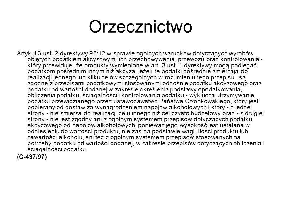 Orzecznictwo Artykuł 3 ust.