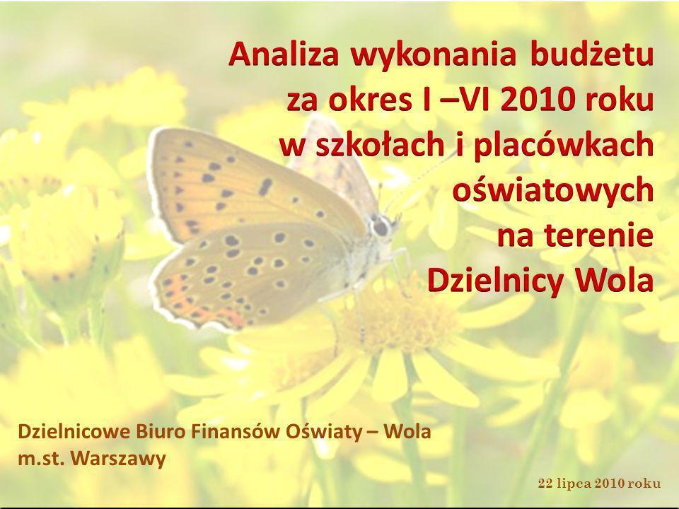 Dzielnicowe Biuro Finansów Oświaty – Wola m.st. Warszawy 22 lipca 2010 roku