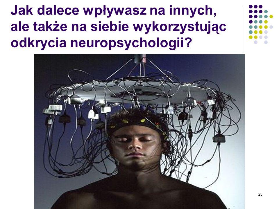Jak dalece wpływasz na innych, ale także na siebie wykorzystując odkrycia neuropsychologii 28