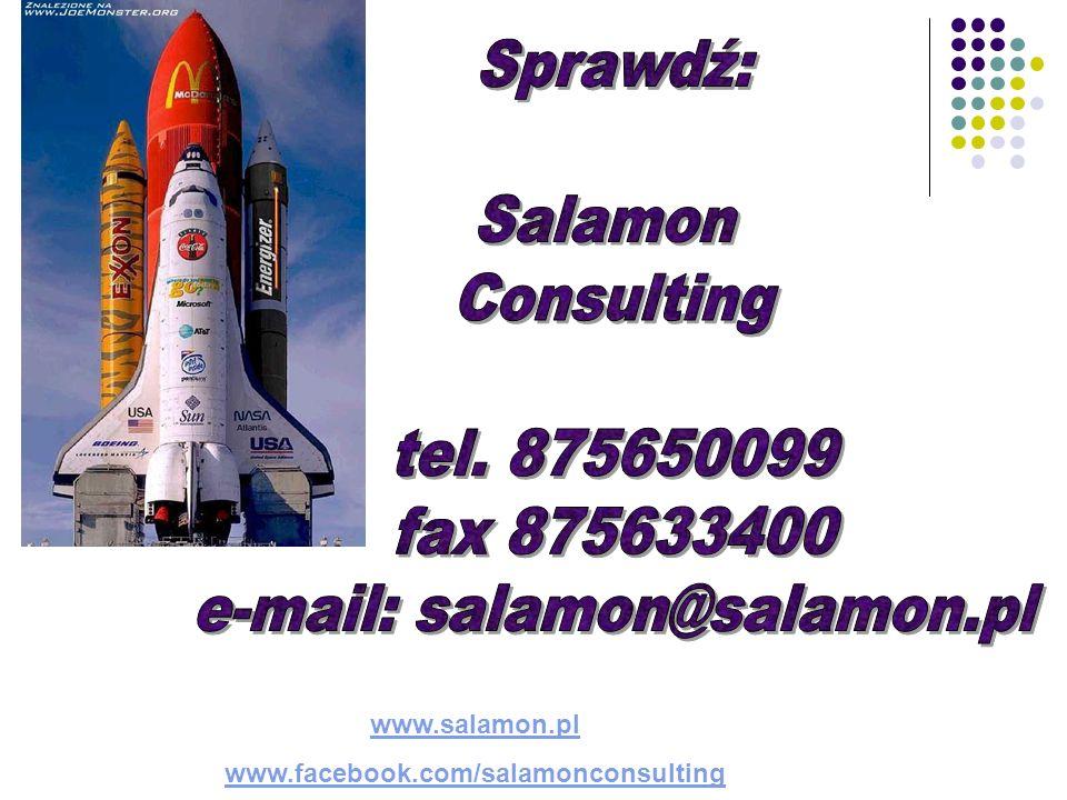 www.salamon.pl www.facebook.com/salamonconsulting