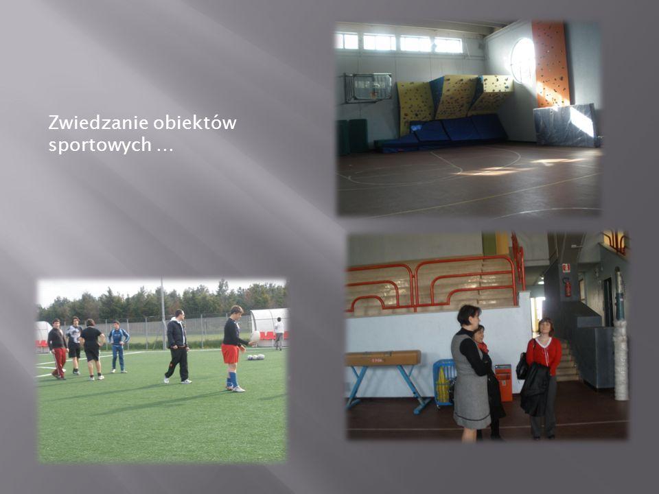 Zwiedzanie obiektów sportowych …