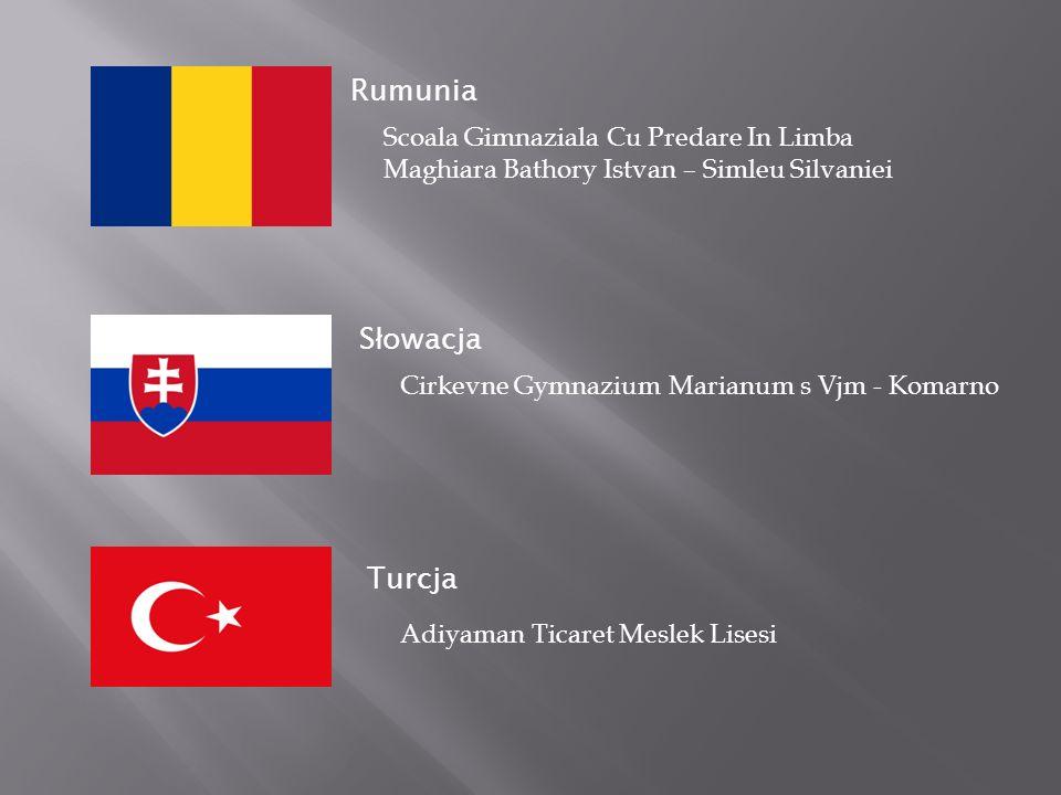 S ł owacja Turcja Rumunia Scoala Gimnaziala Cu Predare In Limba Maghiara Bathory Istvan – Simleu Silvaniei Cirkevne Gymnazium Marianum s Vjm - Komarno