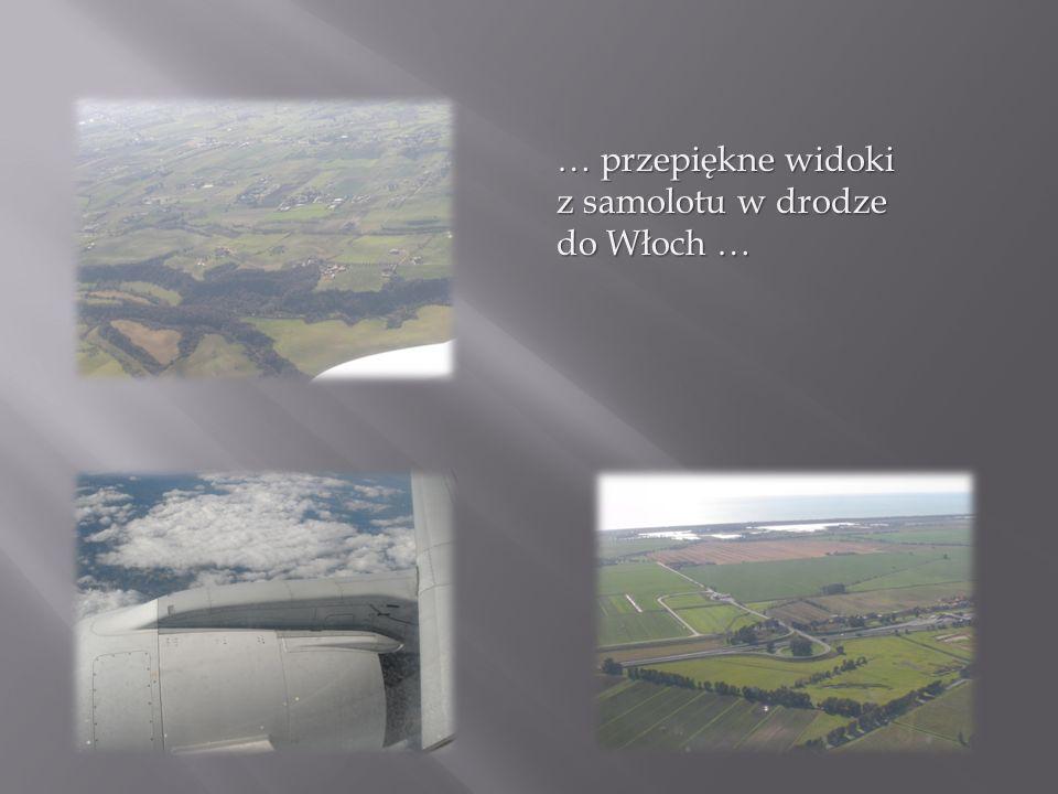 … przepiękne widoki z samolotu w drodze do Włoch …