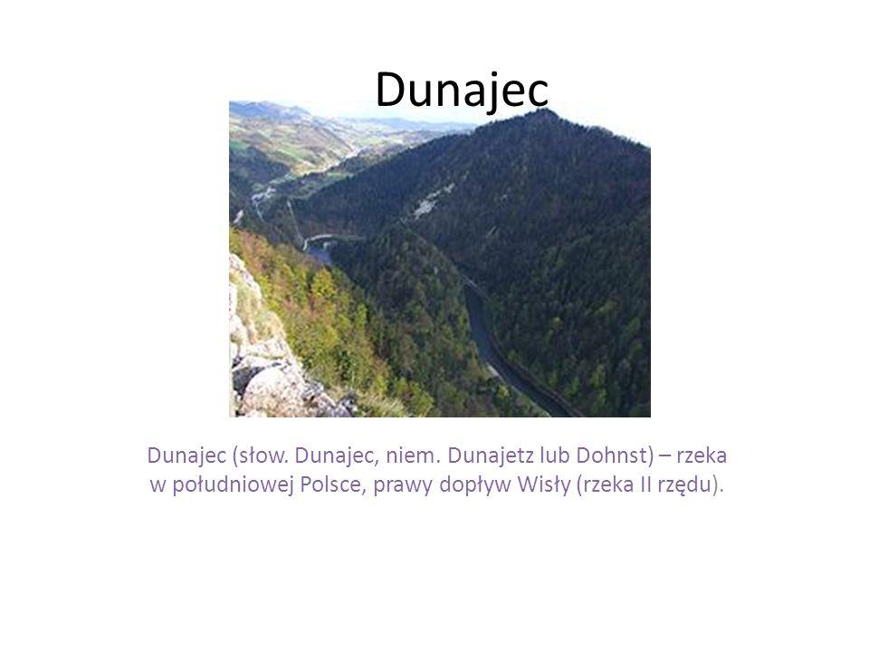Dunajec Dunajec (słow. Dunajec, niem. Dunajetz lub Dohnst) – rzeka w południowej Polsce, prawy dopływ Wisły (rzeka II rzędu).