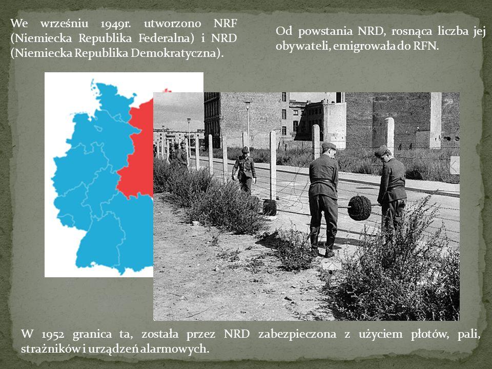 Plan budowy muru był tajemnicą rządu NRD.W nocy z 12 na 13 listopada 1961r.