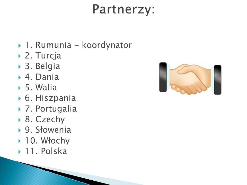 1. Rumunia – koordynator 2. Turcja 3. Belgia 4. Dania 5. Walia 6. Hiszpania 7. Portugalia 8. Czechy 9. Słowenia 10. Włochy 11. Polska