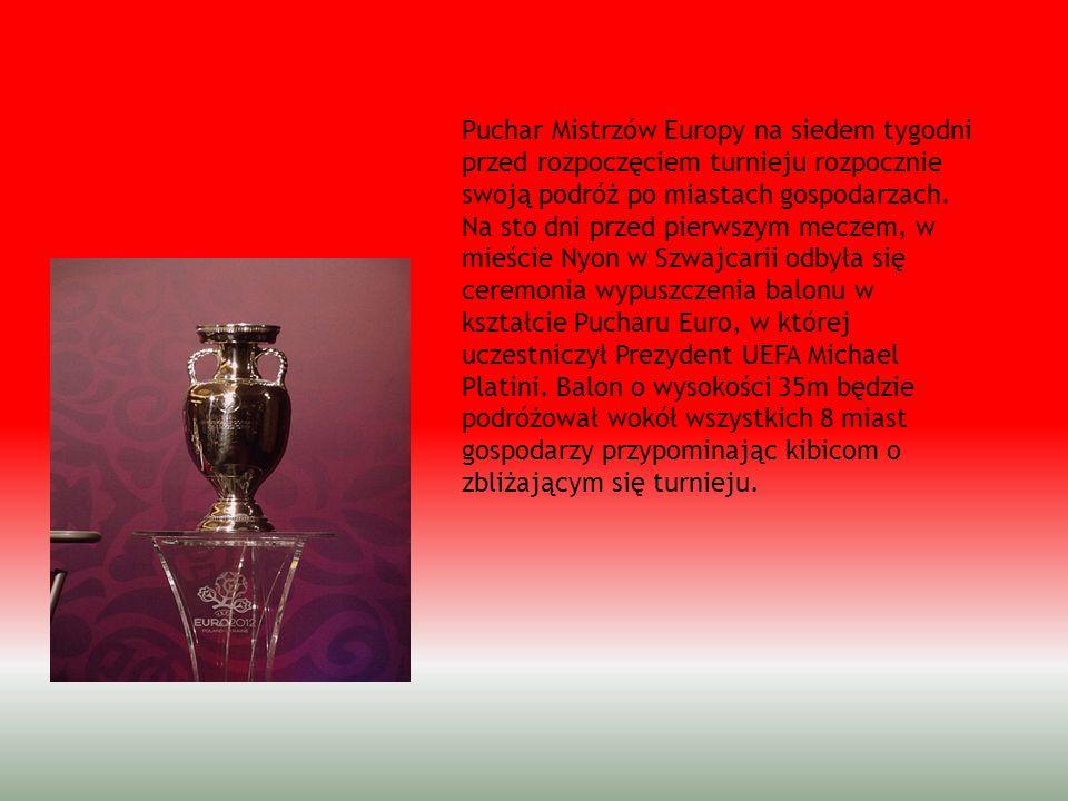 Puchar Mistrzów Europy na siedem tygodni przed rozpoczęciem turnieju rozpocznie swoją podróż po miastach gospodarzach. Na sto dni przed pierwszym mecz