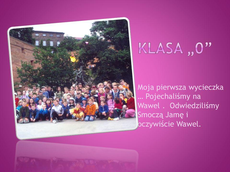Moja pierwsza wycieczka … Pojechaliśmy na Wawel. Odwiedziliśmy Smoczą Jamę i oczywiście Wawel.