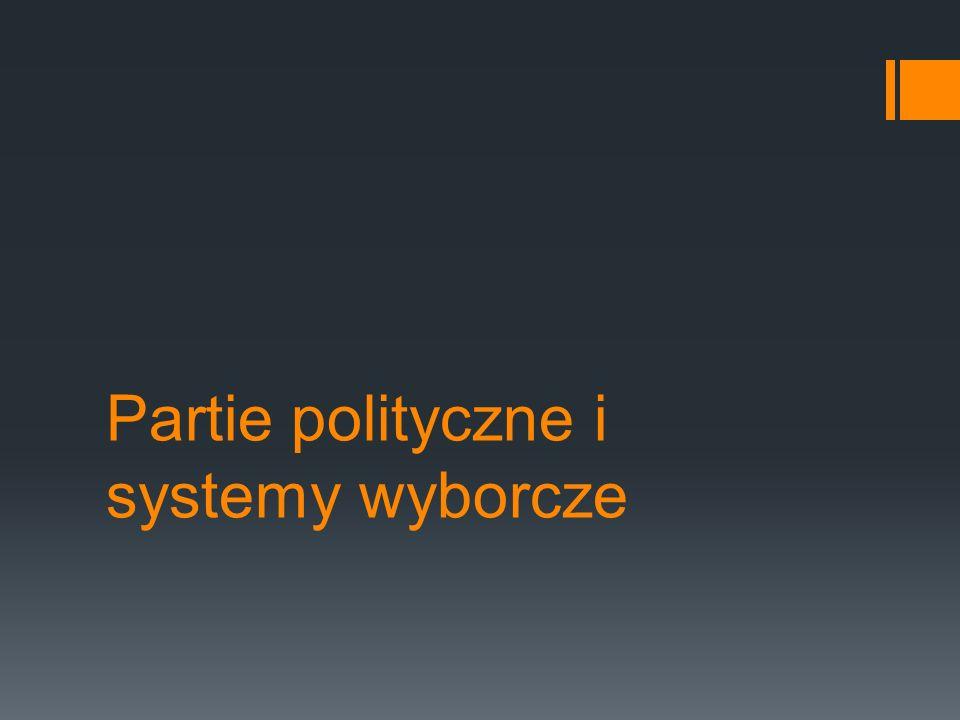 Partie polityczne i systemy wyborcze