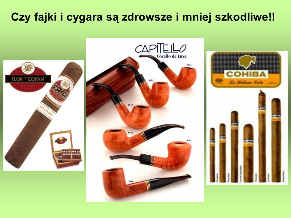 Czy fajki i cygara są zdrowsze i mniej szkodliwe!!