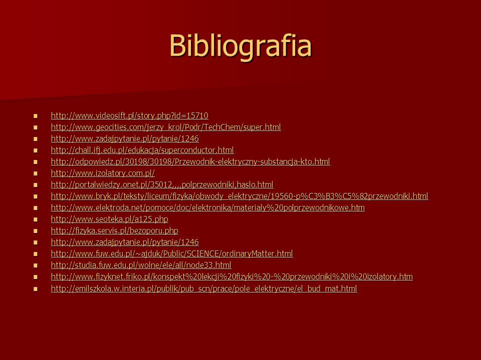 Bibliografia http://www.videosift.pl/story.php?id=15710 http://www.videosift.pl/story.php?id=15710 http://www.videosift.pl/story.php?id=15710 http://w