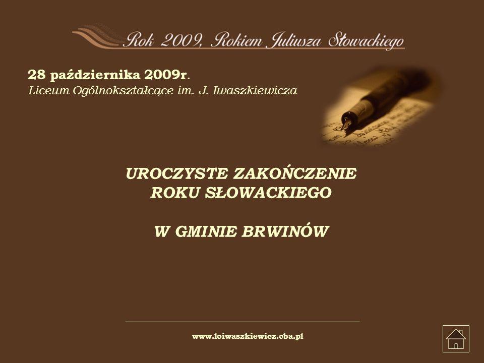 28 października 2009r. Liceum Ogólnokształcące im.