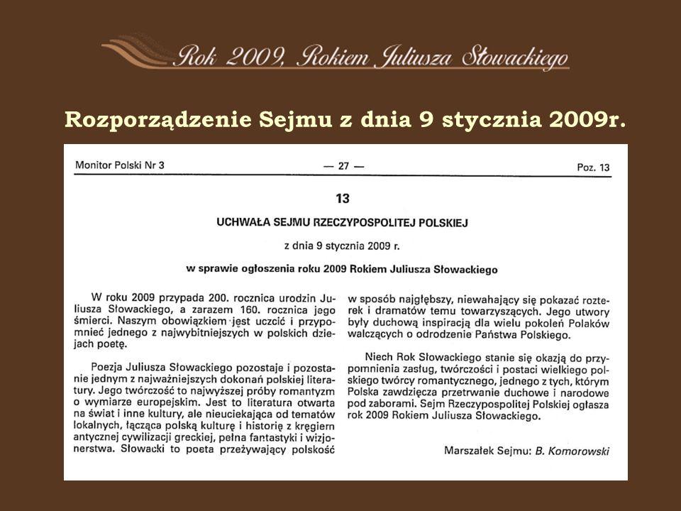 Rozporządzenie Sejmu z dnia 9 stycznia 2009r.
