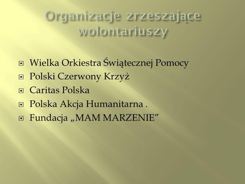 Wielka Orkiestra Świątecznej Pomocy Polski Czerwony Krzyż Caritas Polska Polska Akcja Humanitarna.