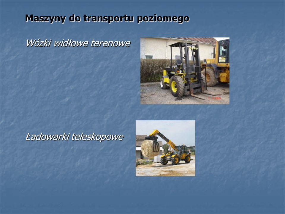 Maszyny do transportu poziomego Wózki widłowe terenowe Ładowarki teleskopowe