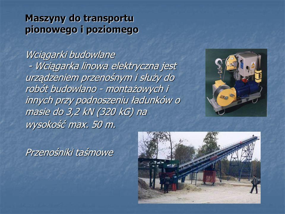Maszyny do transportu pionowego i poziomego Wciągarki budowlane - Wciągarka linowa elektryczna jest urządzeniem przenośnym i służy do robót budowlano