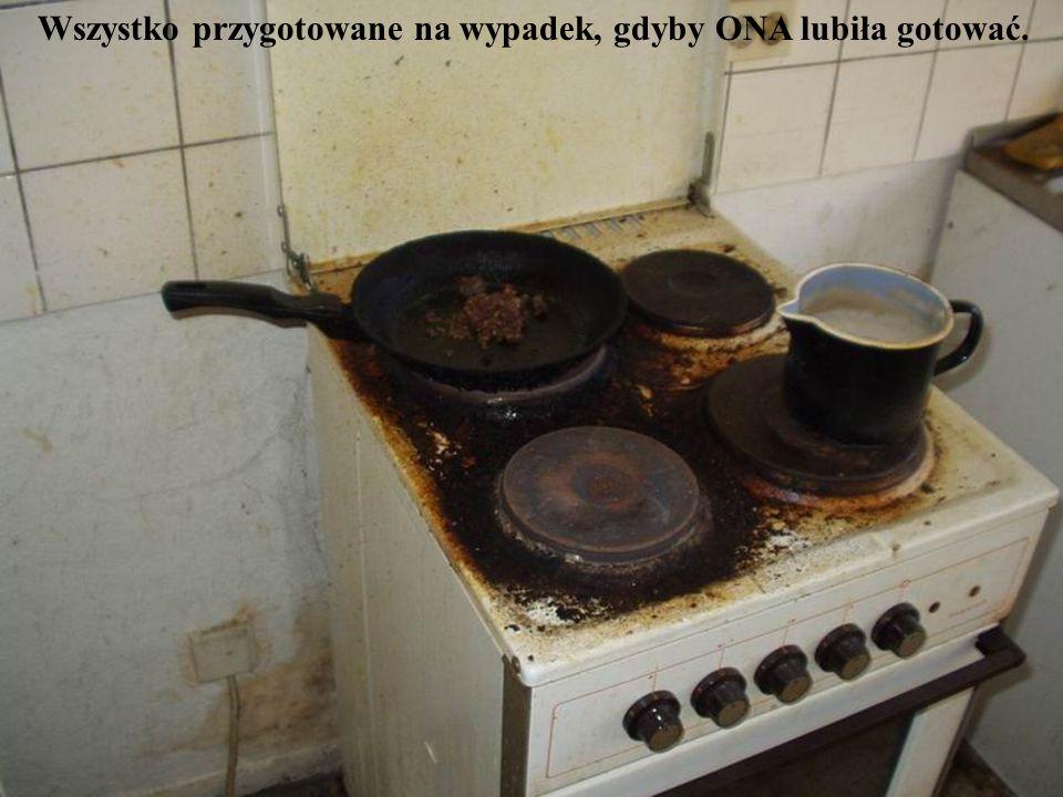 Wszystko przygotowane na wypadek, gdyby ONA lubiła gotować.