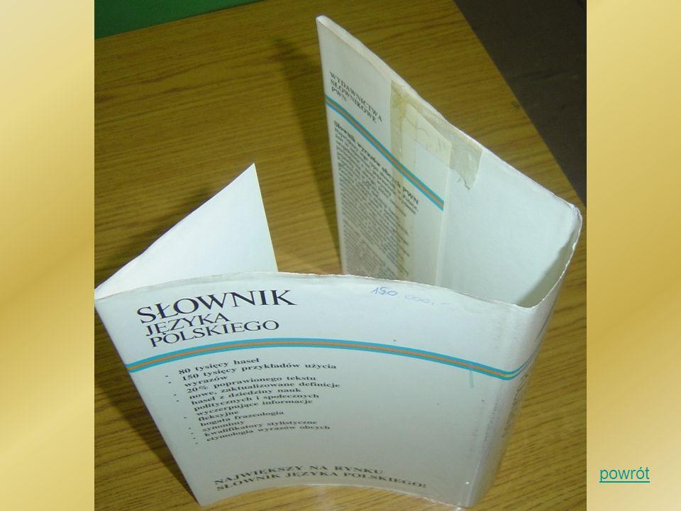 Opaska Pasek papieru przeważnie kolorowego, który opasuje książkę Pełni funkcję ozdobną, reklamową