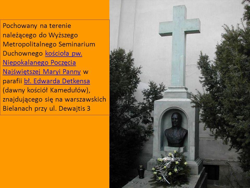 Pochowany na terenie należącego do Wyższego Metropolitalnego Seminarium Duchownego kościoła pw. Niepokalanego Poczęcia Najświętszej Maryi Panny w para