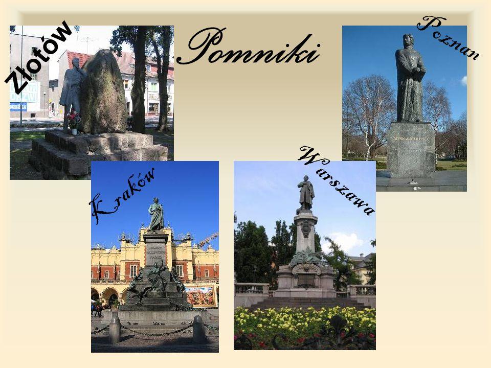 Pomniki Złotów Kraków Poznan Warszawa